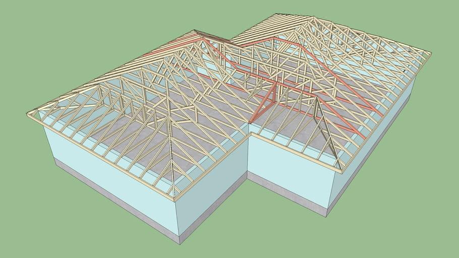 Complex Truss Roof 8 3d Warehouse