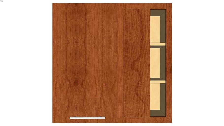 Wall Blind Corner Single Door 30H