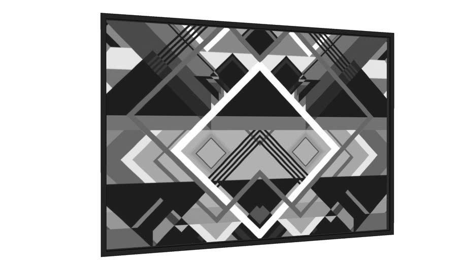 Quadro Composição Geométrica 9 - PB - Galeria9, por Farago