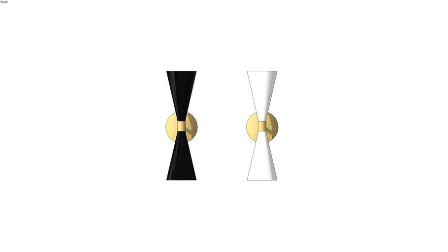 Double Cone Wall Sconce