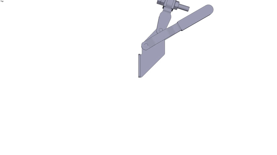 Collar vertical toggle clamp - Front mounting - M8x50