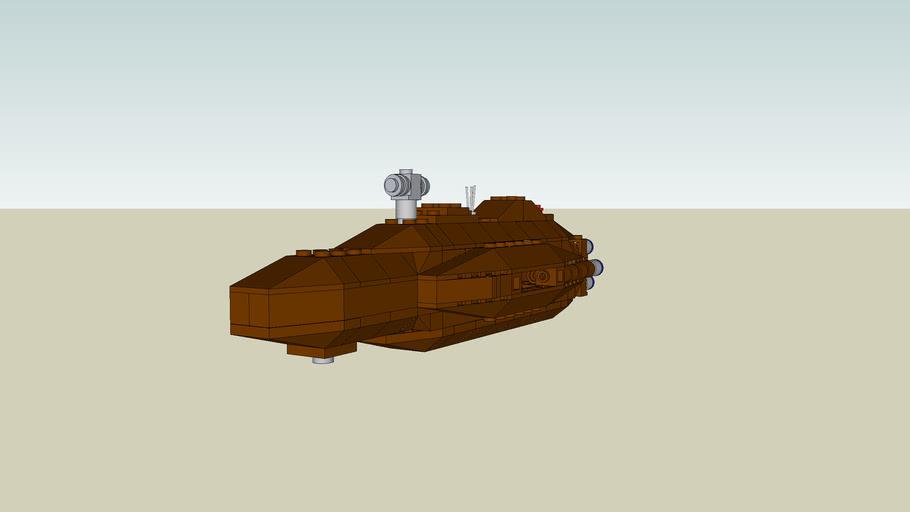 Custom Lego Star Wars Mini Rebel Mon Calamari Cruiser (Home One) Battlefront 2 version