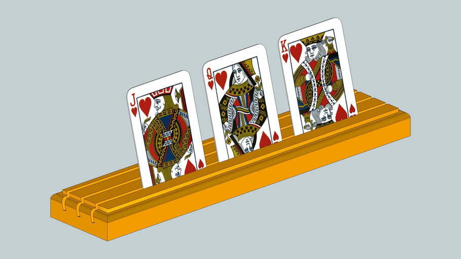 Wood Playing Card Holder for Bridge