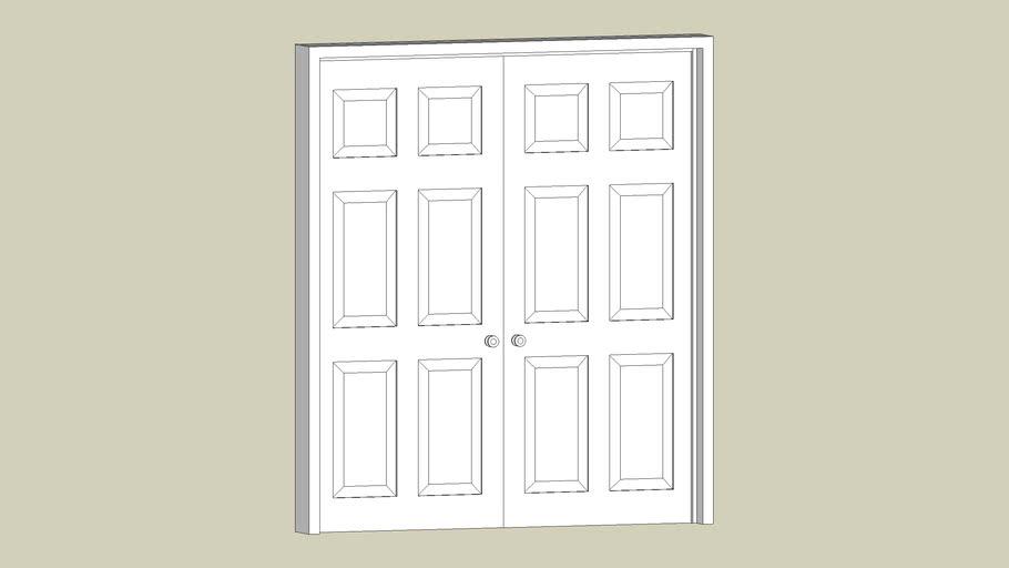 french style six panel doors