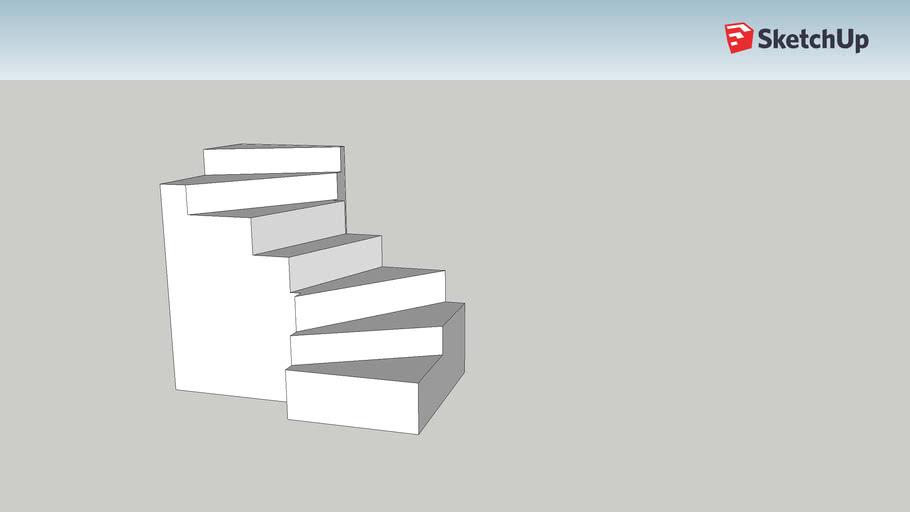 escalier demi niveau