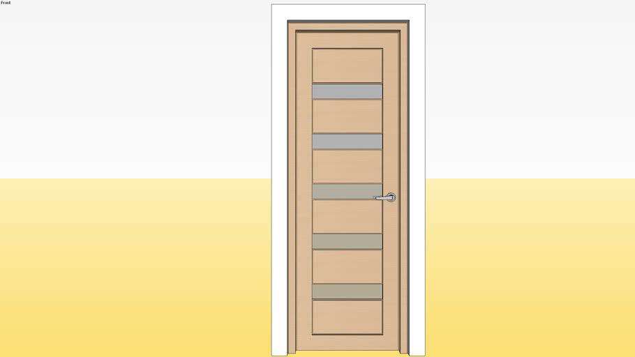 Panel Glass Door D4 700 x 2100 Jamb 4