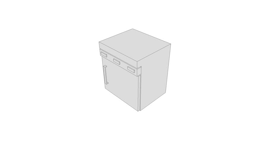 M3105 - Cabinet, Warming, F-S, 1 Heated Compartment, Elect