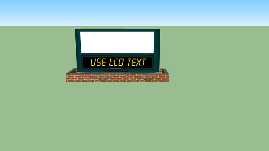 Sign with LCD Display