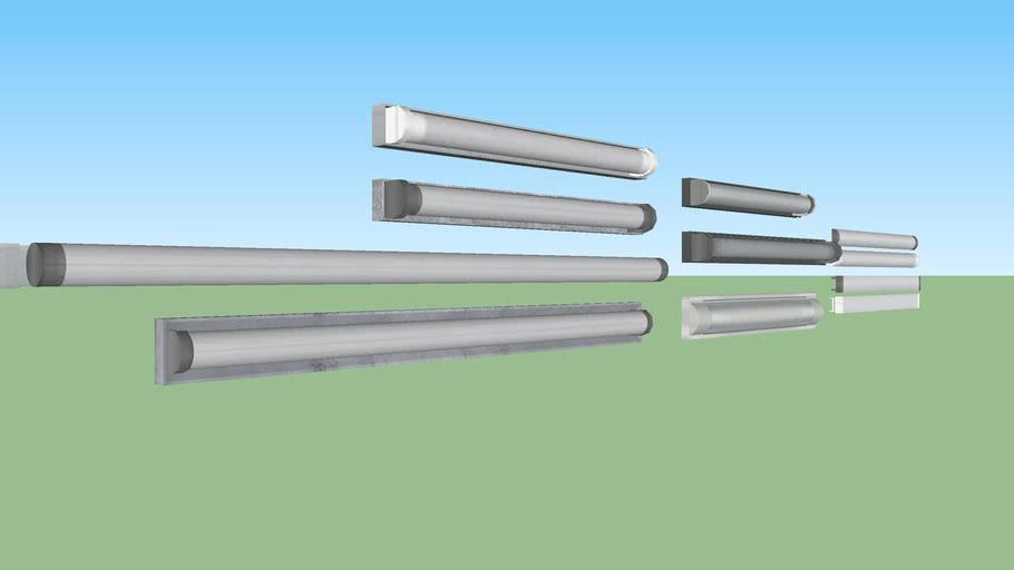 Fluorescent tube light set