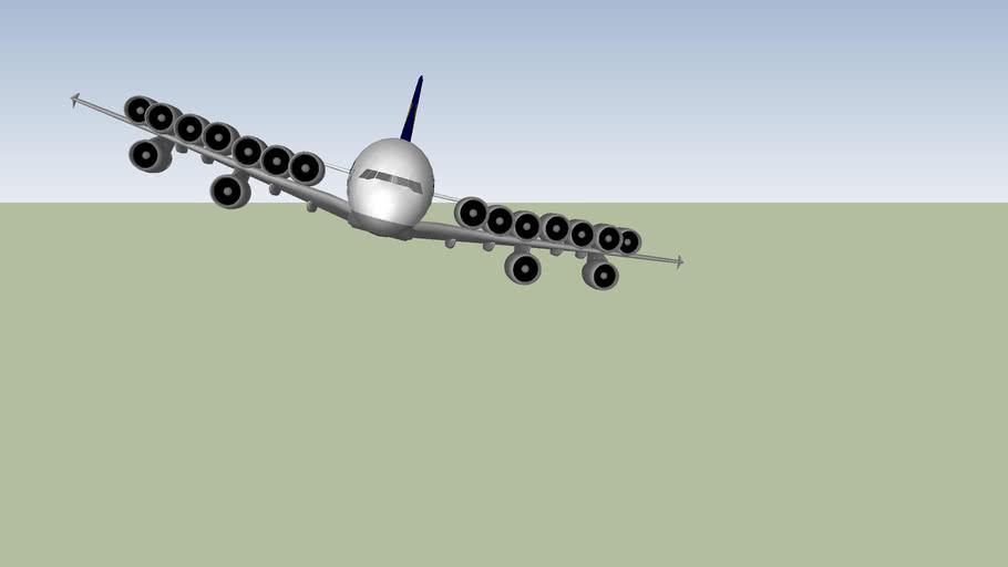 Lufthansa A380 Wacky