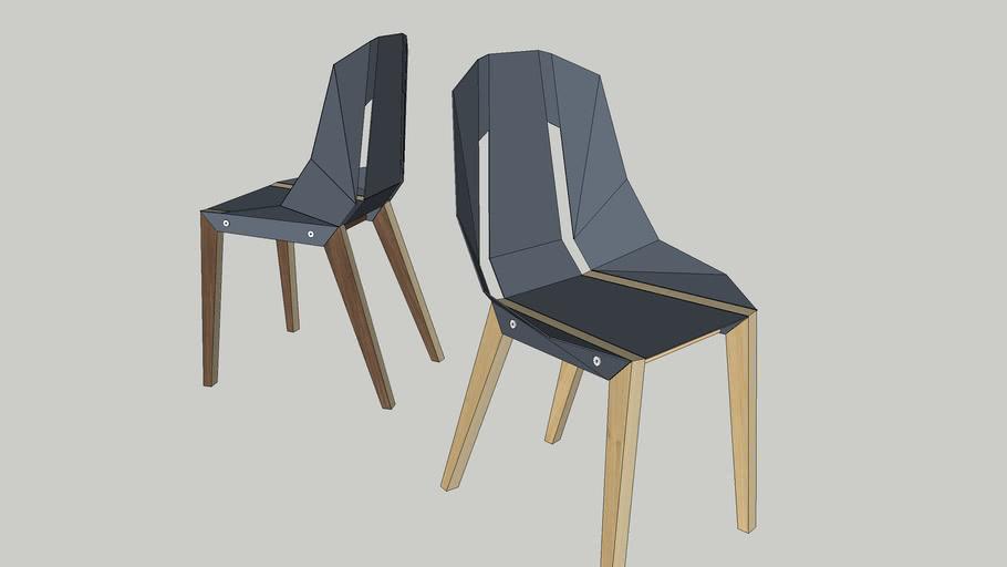 DIAGO chair by Tabanda -  blue grey