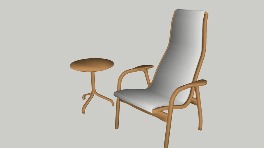 Swedese Lamino Easy Chair and Table