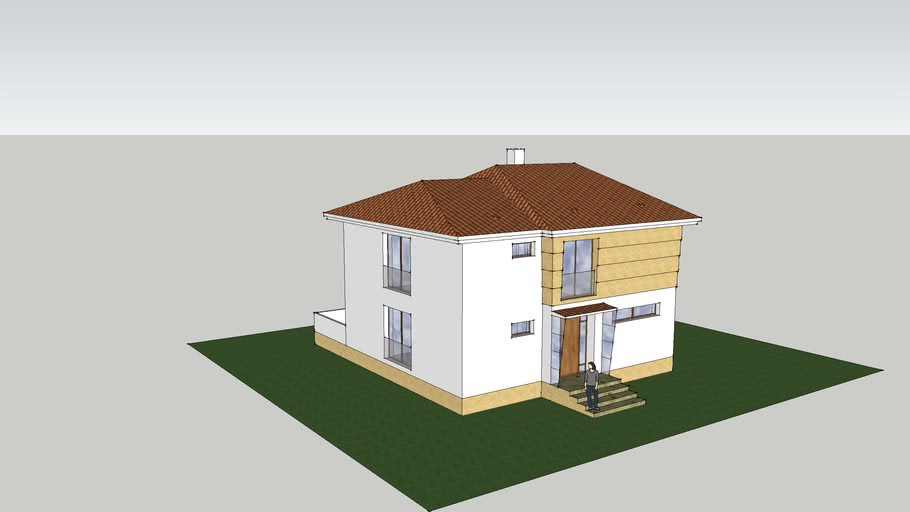 One family compact house with basement (optional)