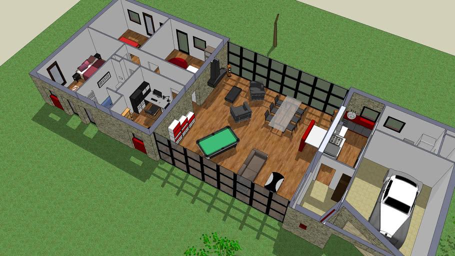 Maison Moderne 170m2 Design Interieur Et Exterieur 3d Warehouse