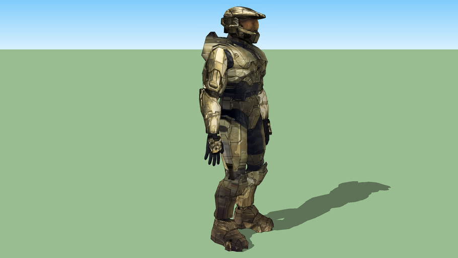 Halo 3 Master Chief ___ PHOTO TEXTURED_posable.skp (2 mb)