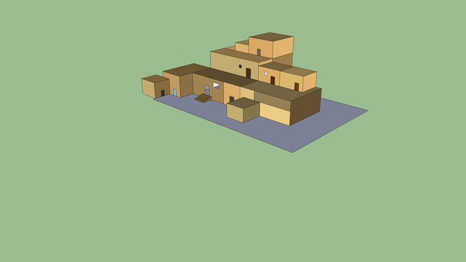 Incan/Pueblo Architecture Buildings