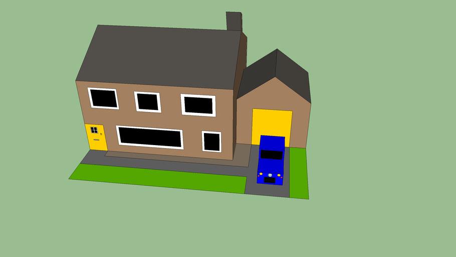 House with car V1