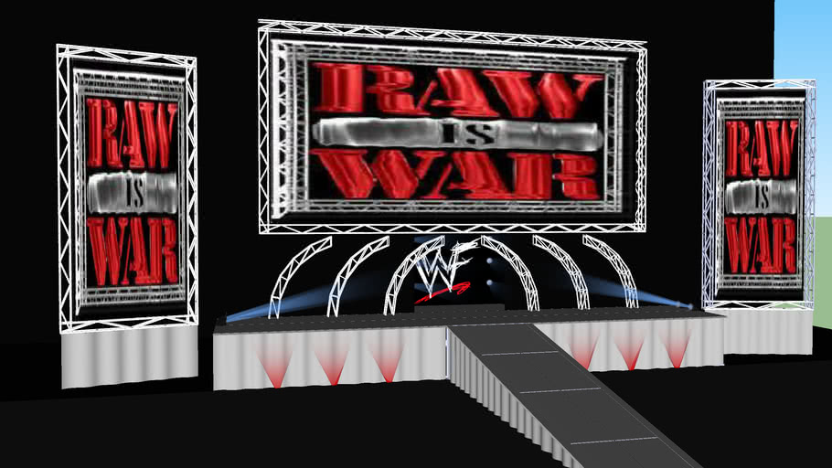 Classic Wwf Raw Stage 1999 3d Warehouse