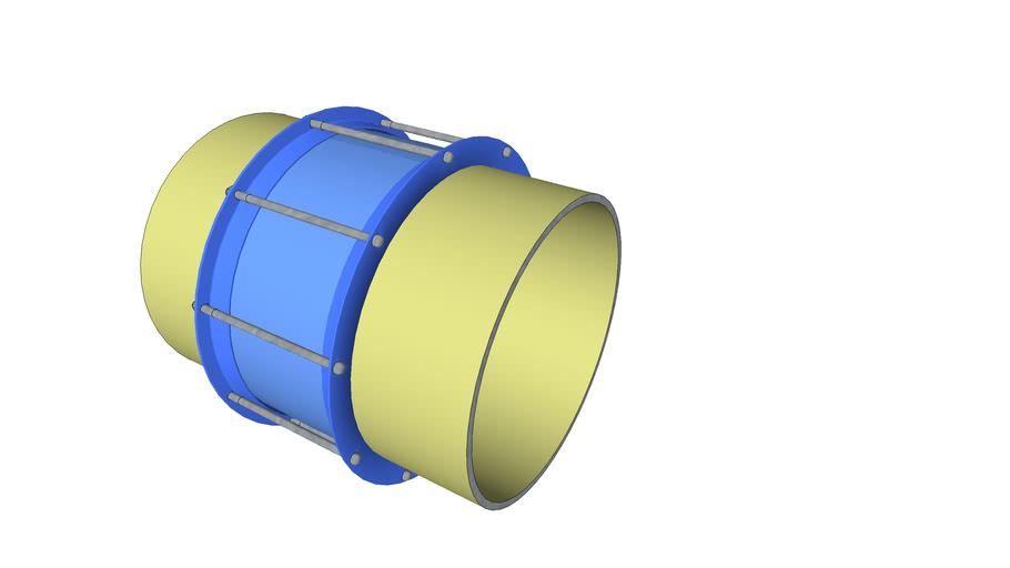 500mm n.d. Steel Detachable Coupling for Pressurised Pipelines