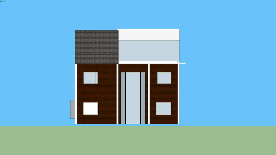 Proposed Two-Storey with attic and roof deck