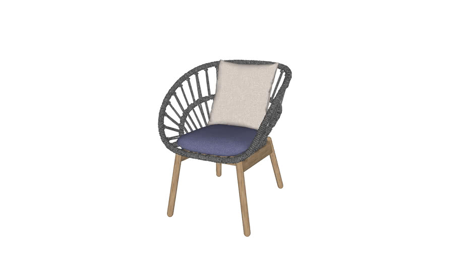 Kettal - Cala Dining Armchair Teak modified by Pooh