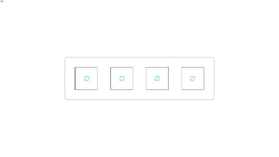 Unica Studio Frame 4 gang, white