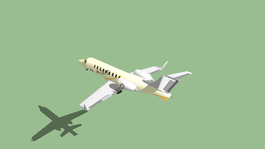 Bombardier Learjet 45 With Interior {1Mb}