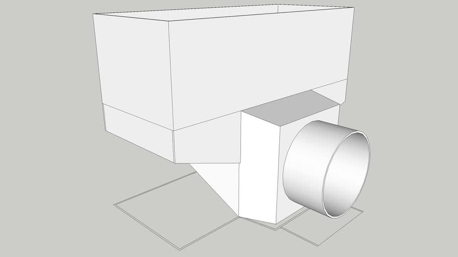 Register Plenum Perpendicular