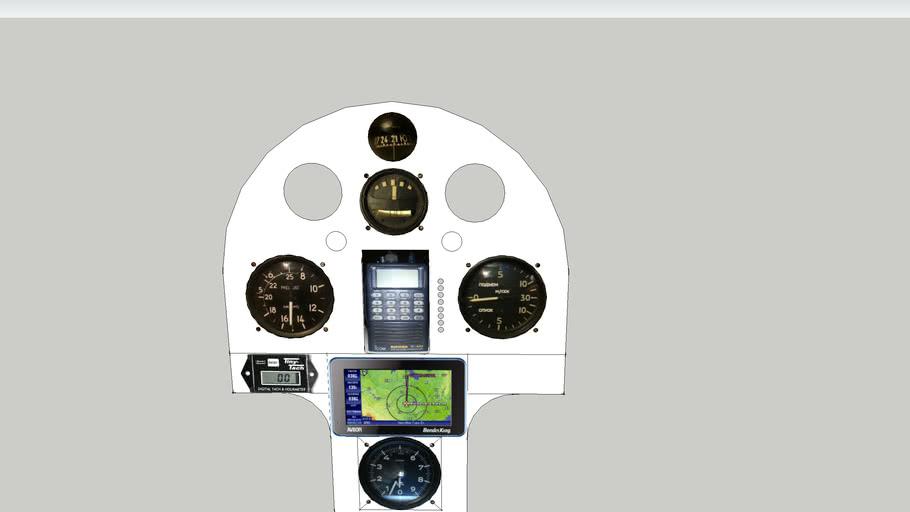 """Ultralight aircraft RK-1 """"Swallow"""" / """"Kregzdute"""" instrument panel layut"""