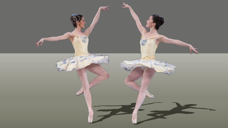 2 Women Dancers Ballet 02 3d Warehouse