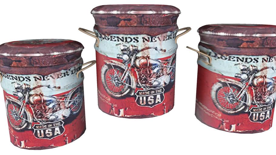 80835 Stool Storage Motor Bike (3/Set) (Hocker Storage Motor Bike (3/Set))