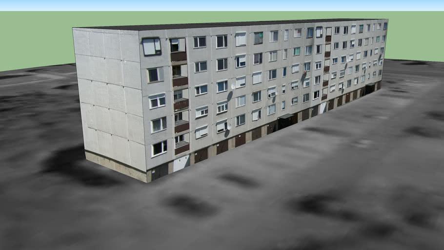 Tiszaújváros Rózsa úti 4 emeletes panelház