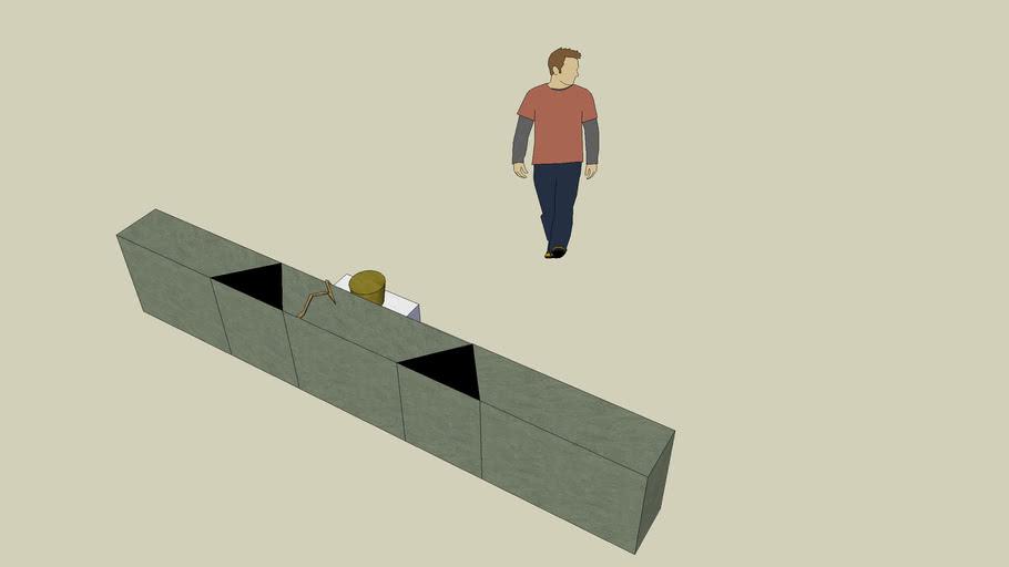 escenografía - set design: pozo-muro: muro
