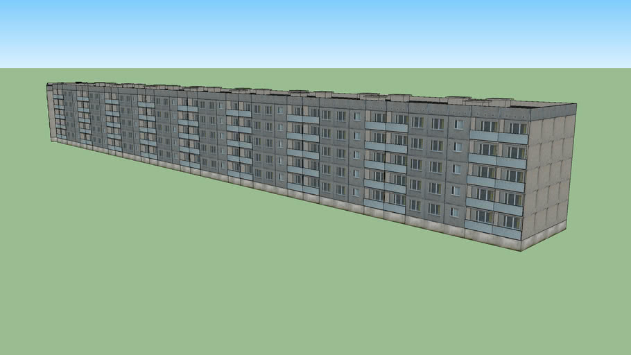 "Soviet ""Lithuanian Project"" apartment block building"