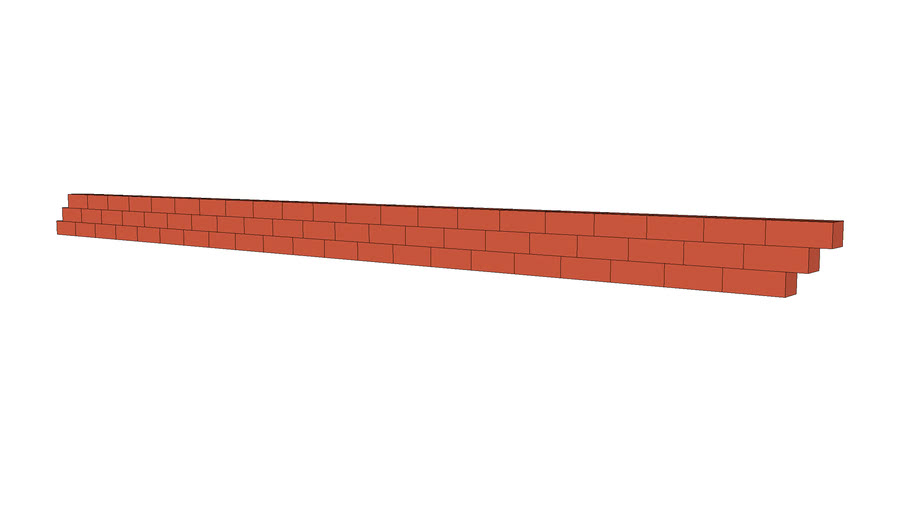 Brick course 3 tall