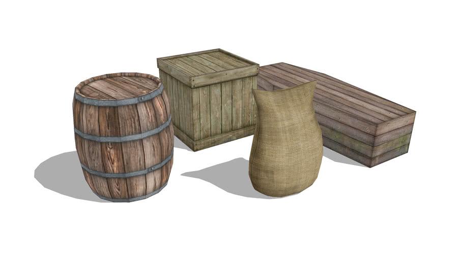 Barrel Boxes & Grain Sack