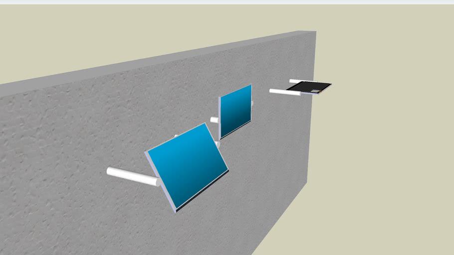 Rotating LCD flatscreen