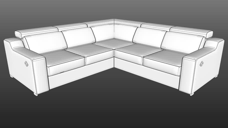 IWC HOME - AMALFI corner sofa lo-poly