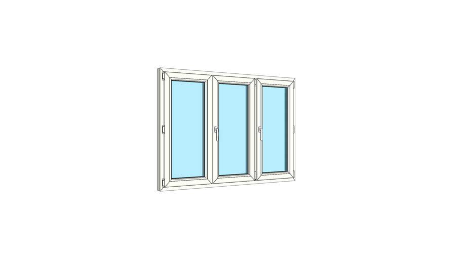 Окно штульповое трехстворчатое VEKA Softline 82