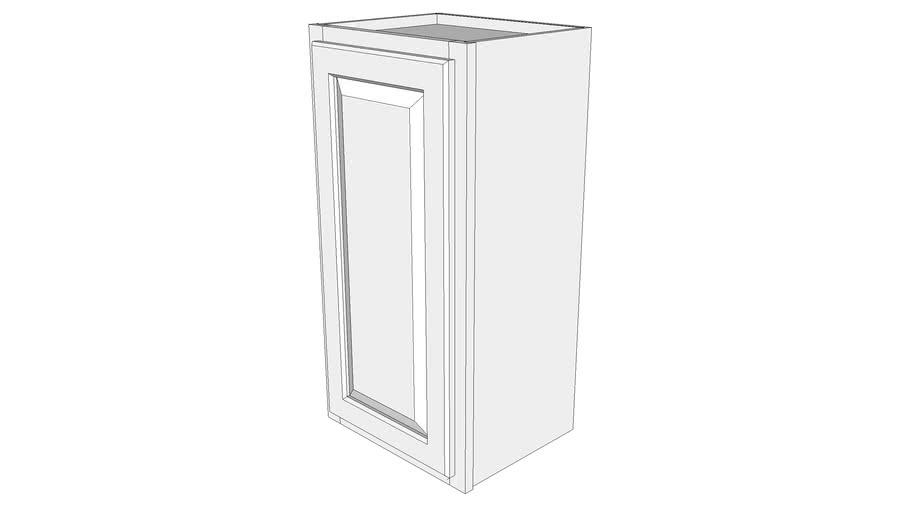 """Briarwood Wall Cabinet W1530 - 12"""" Deep, One Door"""