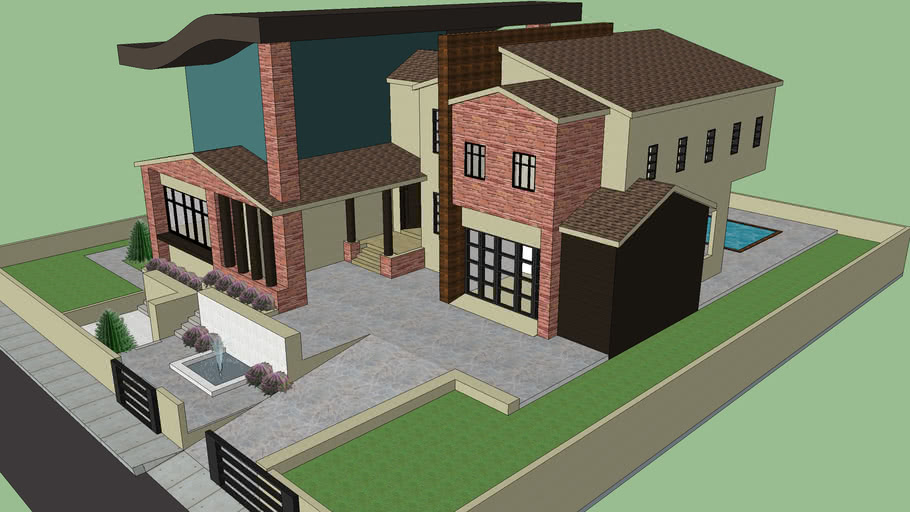 Modern House ''Curvy Roof''
