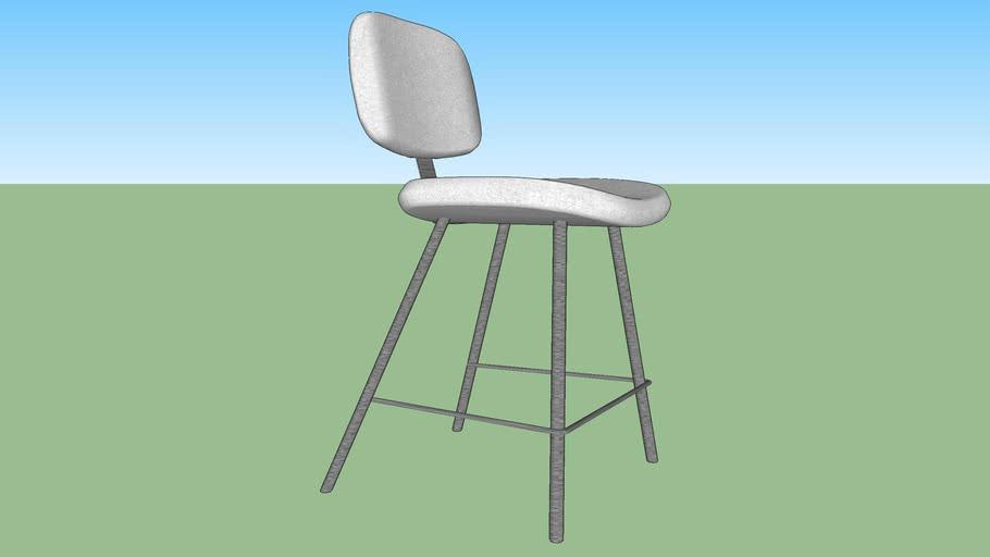 White Chair Stool