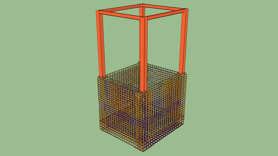 Liftpit Reinforcement & Steel Columns& Beams.skp