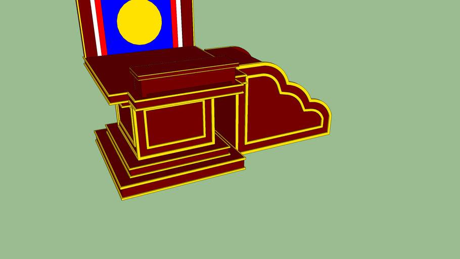 Buddhist throne