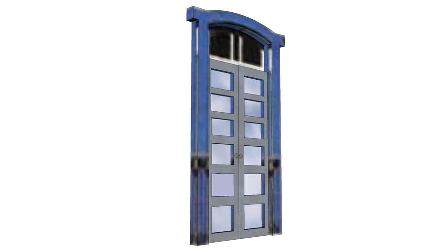 porta barroca com vidros