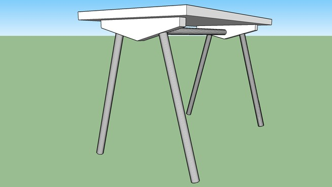 Table with bamboo legs