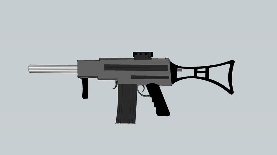 silenced sub machine gun