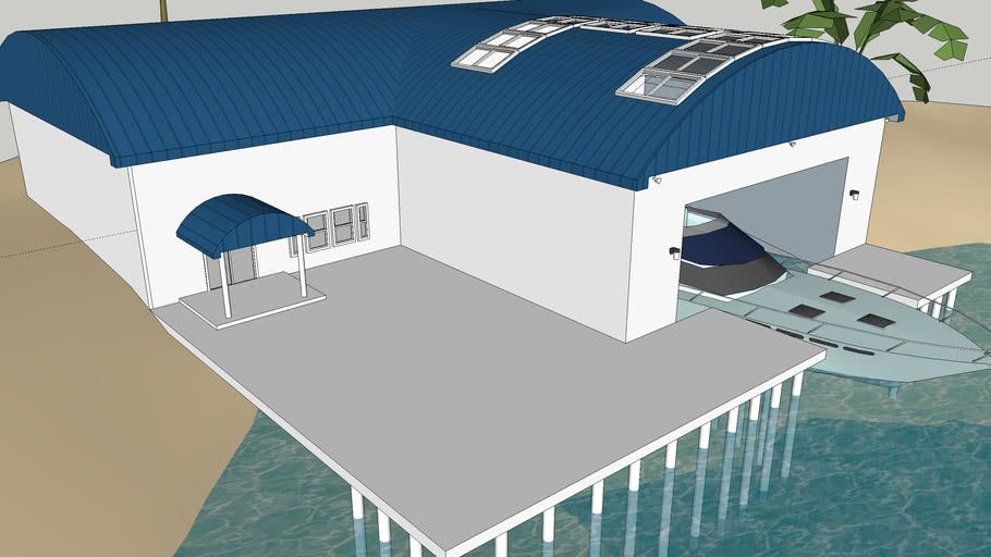 island terrain & Boathouse/Villa
