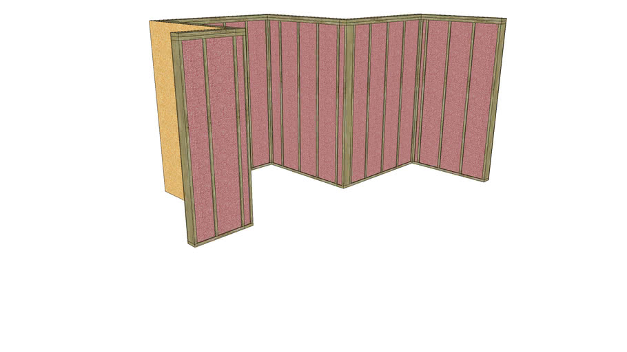 2x6 Exterior Wall with Insulation and Sheathing