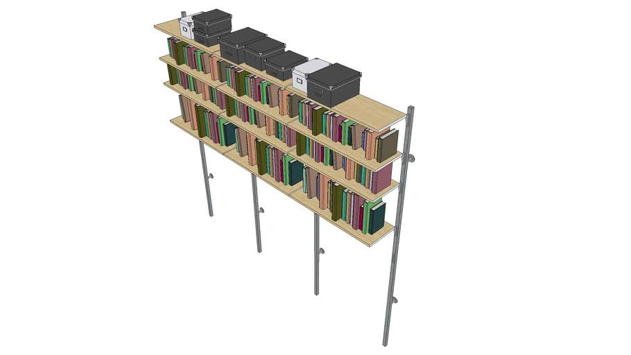 Modular Shelving with Books